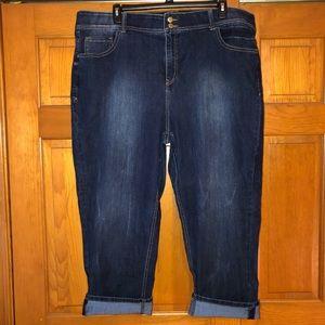 Lane Bryant T3 Crop Jeans 28